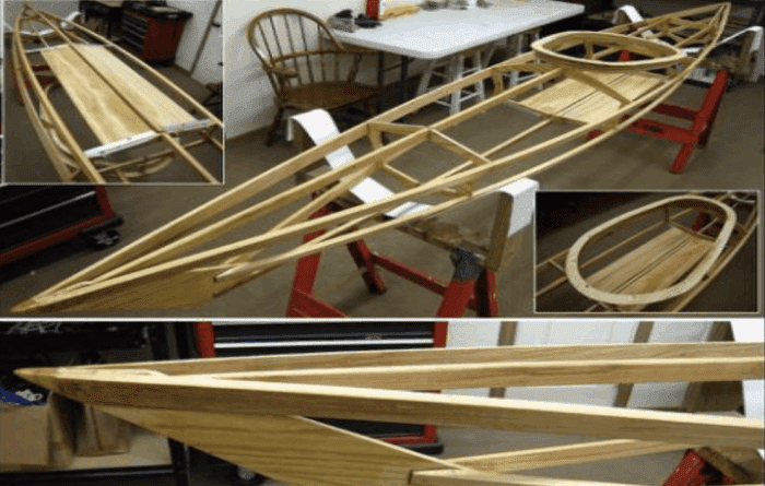 Canvas and Assembling the Kayak